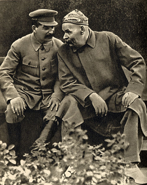 Photo of Stalin and Gorky in conversation 1931