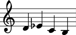 the four notes D,S,C,H